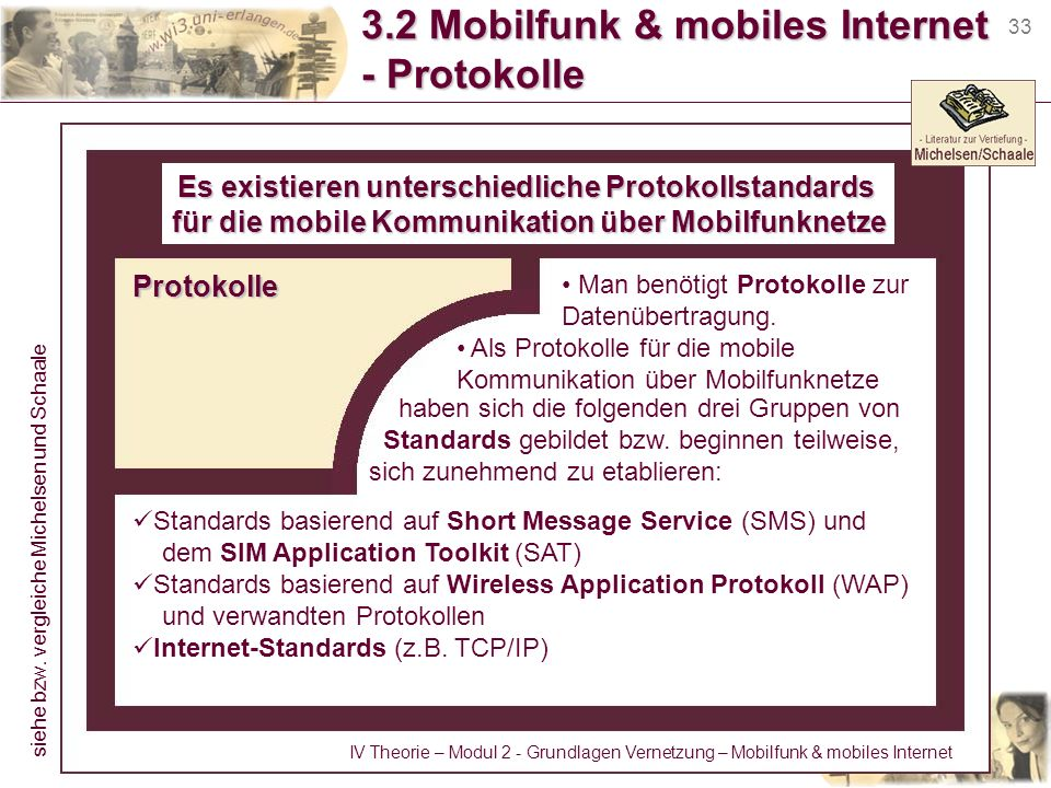 3.2 Mobilfunk & mobiles Internet - Protokolle
