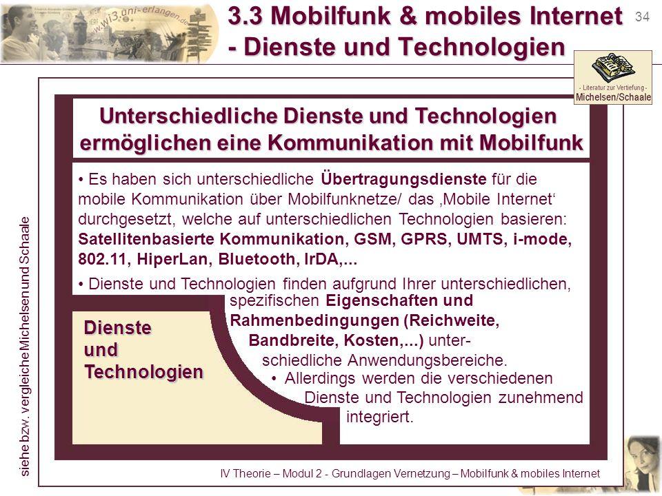 3.3 Mobilfunk & mobiles Internet - Dienste und Technologien