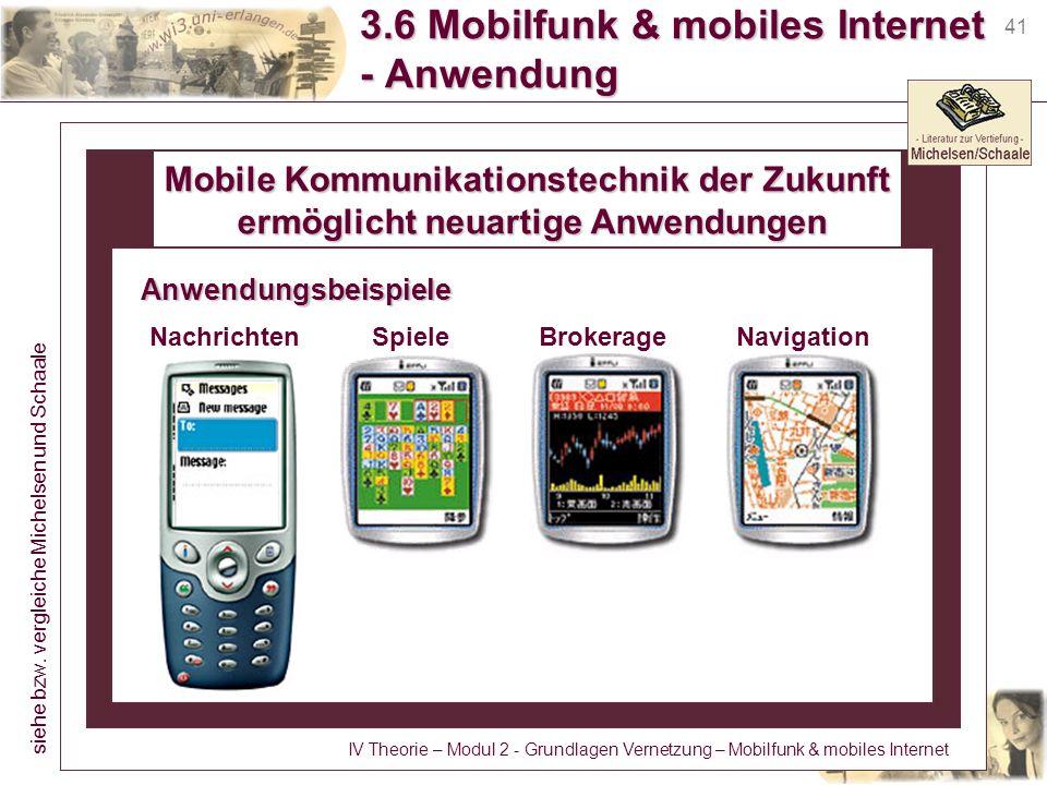 3.6 Mobilfunk & mobiles Internet - Anwendung