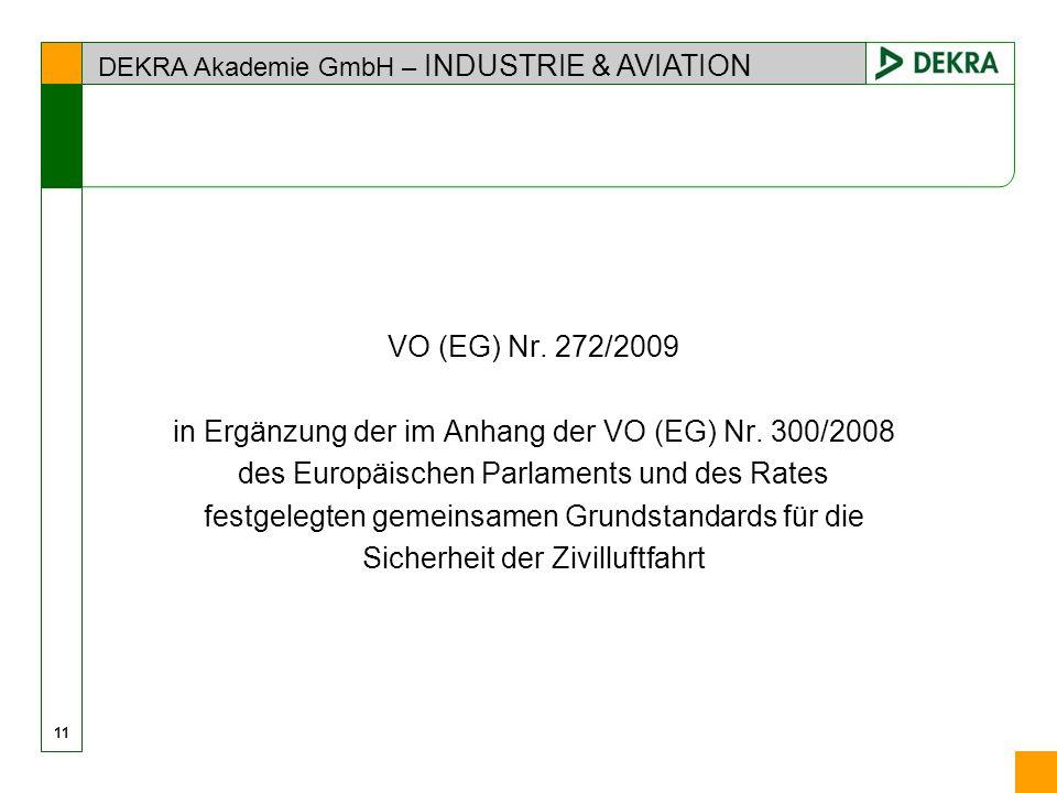 in Ergänzung der im Anhang der VO (EG) Nr. 300/2008