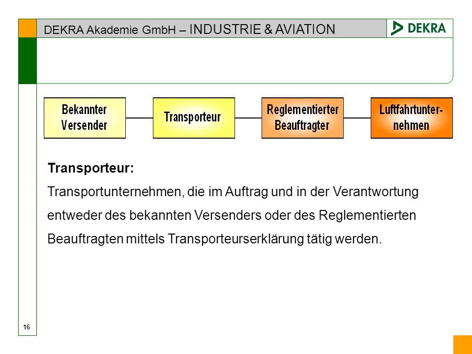 Transportunternehmen, die im Auftrag und in der Verantwortung