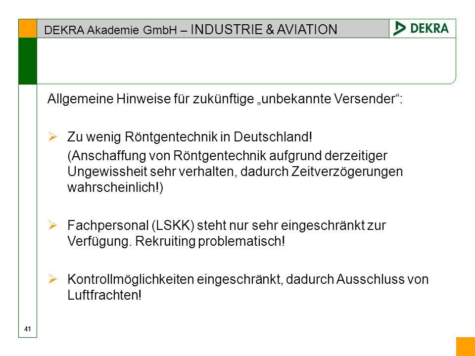 """Allgemeine Hinweise für zukünftige """"unbekannte Versender :"""