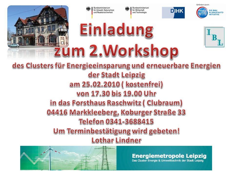 Einladung zum 2.Workshop