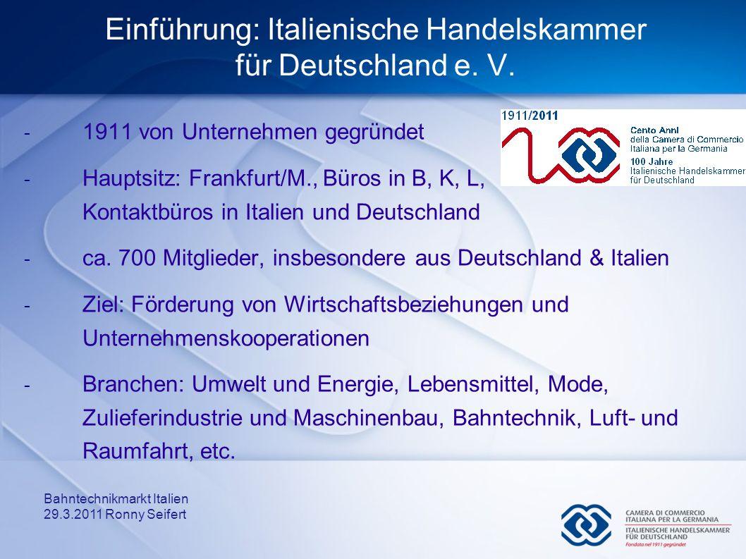 Einführung: Italienische Handelskammer für Deutschland e. V.
