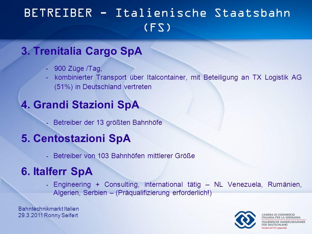 BETREIBER - Italienische Staatsbahn (FS)