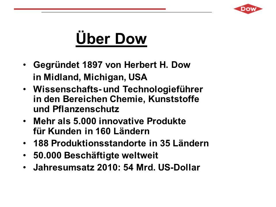 Über Dow Gegründet 1897 von Herbert H. Dow in Midland, Michigan, USA