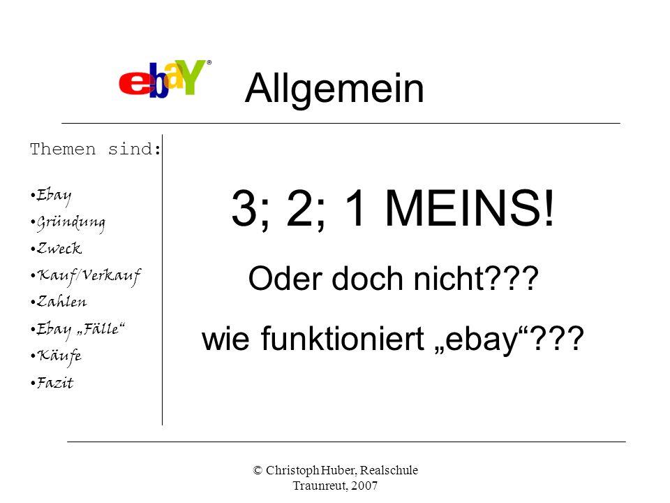 """3; 2; 1 MEINS! Allgemein Oder doch nicht wie funktioniert """"ebay"""