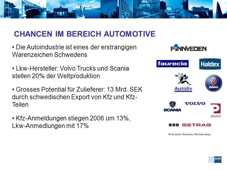 CHANCEN IM BEREICH AUTOMOTIVE