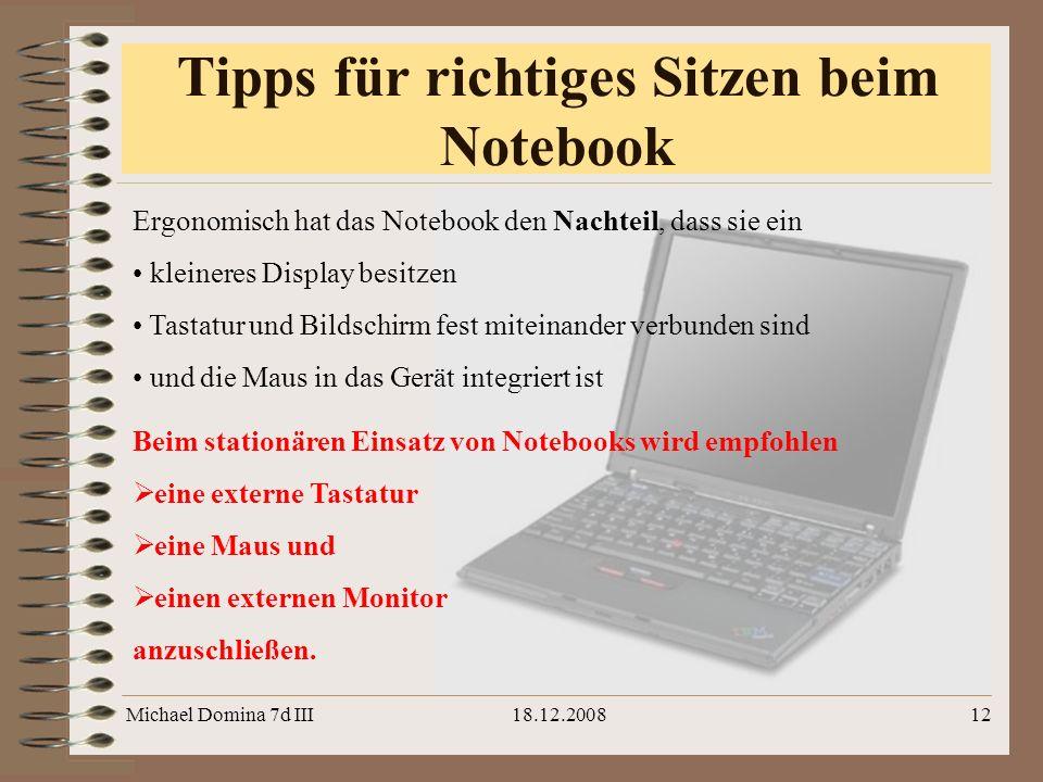 Tipps für richtiges Sitzen beim Notebook