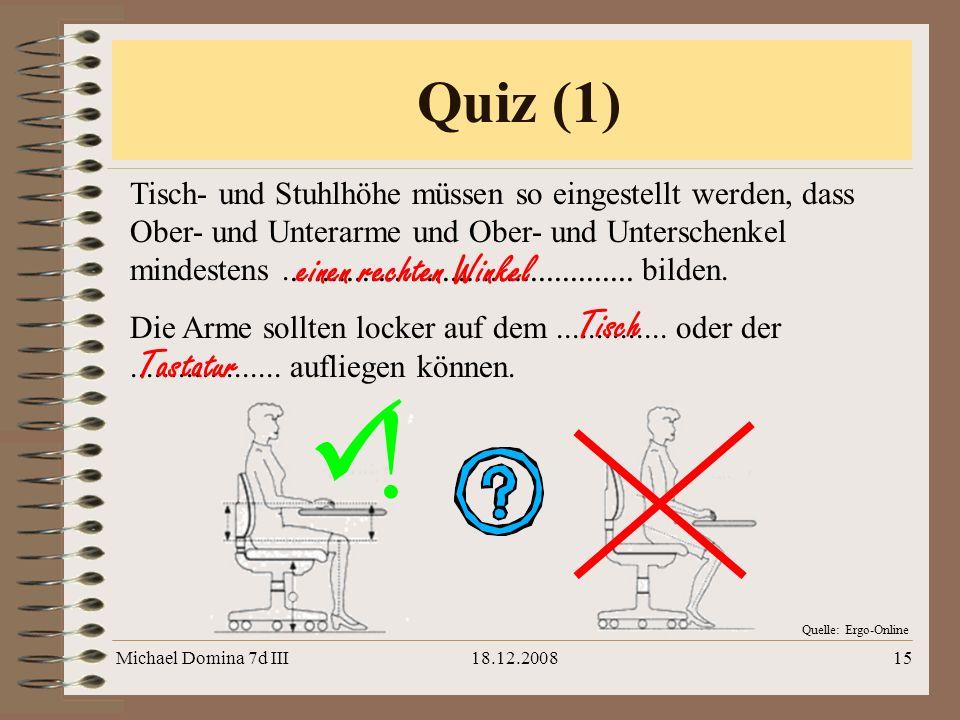 ! Quiz (1) einen rechten Winkel Tisch Tastatur
