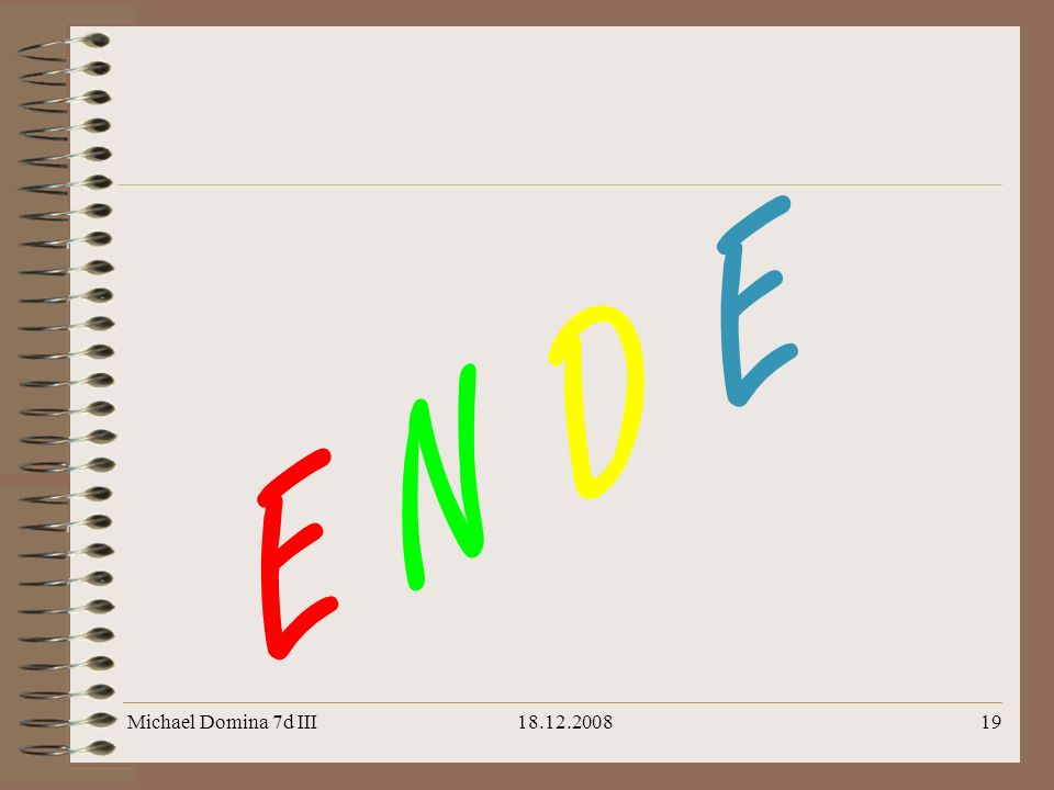 E N D E Michael Domina 7d III 18.12.2008