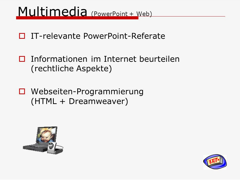 Multimedia (PowerPoint + Web)