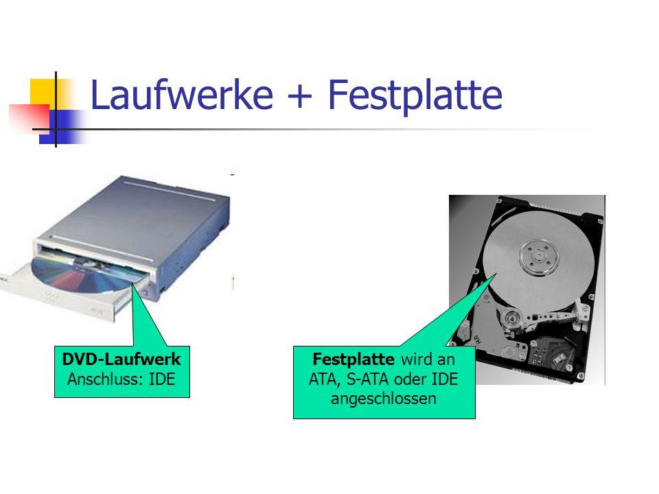 Laufwerke + Festplatte