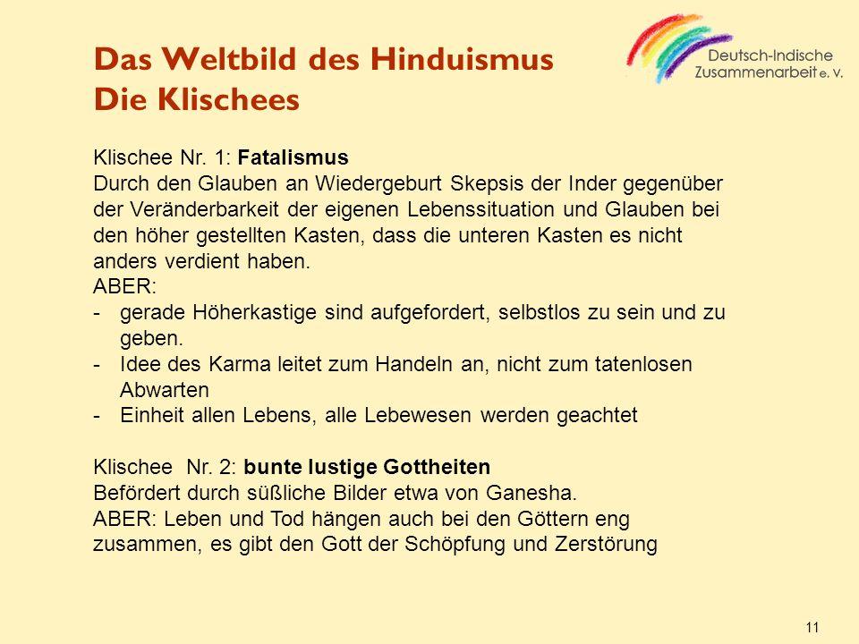 Das Weltbild des Hinduismus Die Klischees