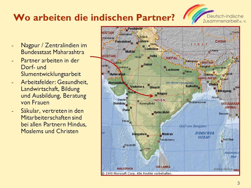 Wo arbeiten die indischen Partner