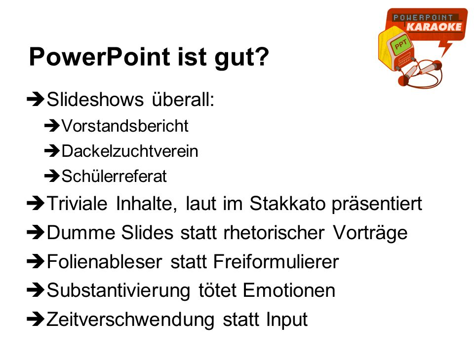 PowerPoint ist gut Slideshows überall:
