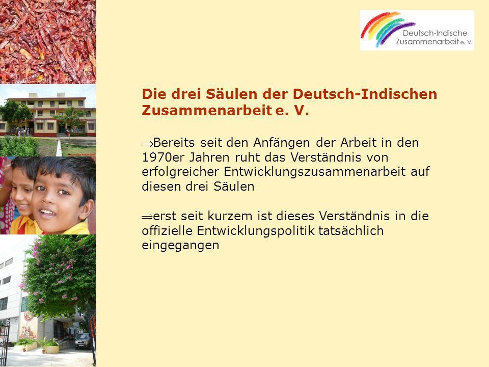 Die drei Säulen der Deutsch-Indischen Zusammenarbeit e. V.