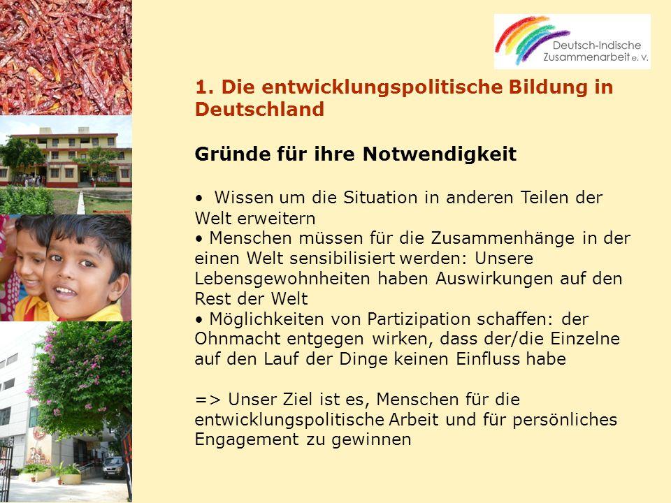 1. Die entwicklungspolitische Bildung in Deutschland
