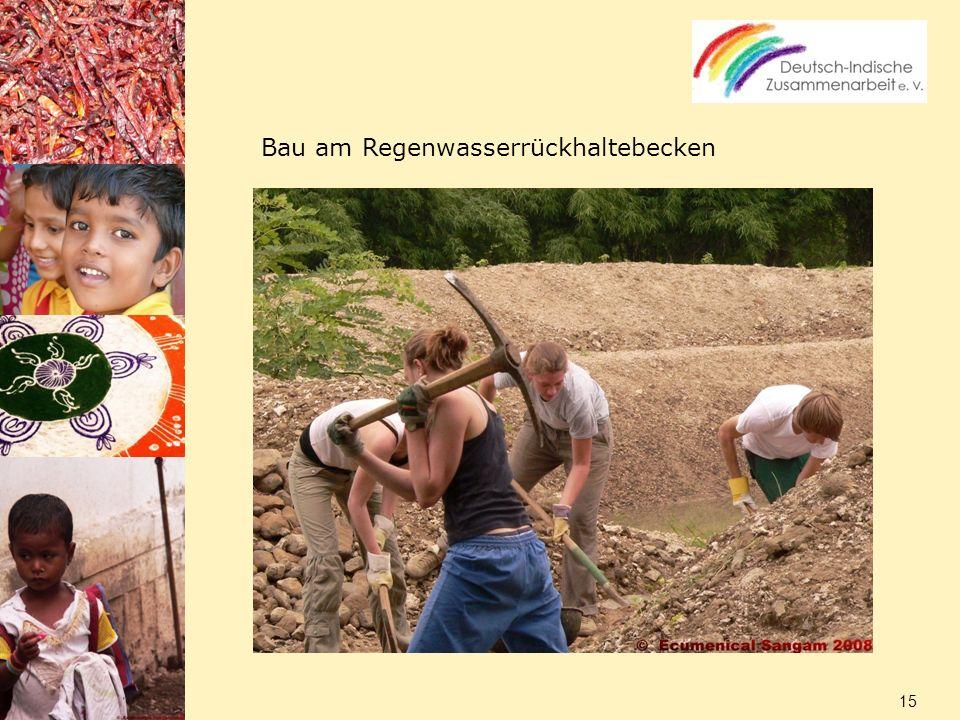 Bau am Regenwasserrückhaltebecken