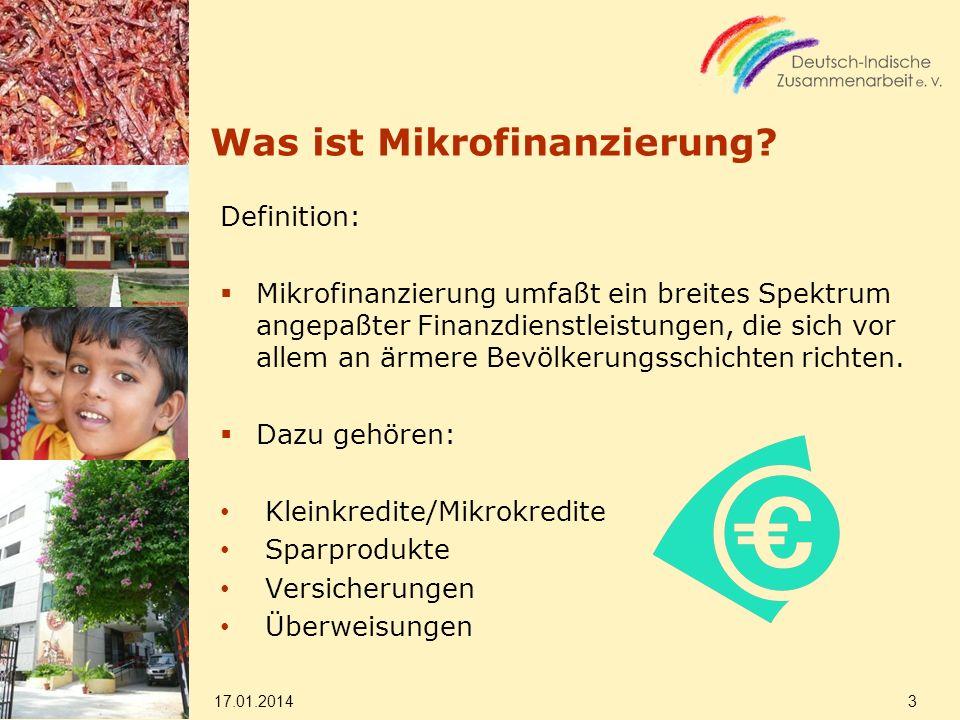 Was ist Mikrofinanzierung