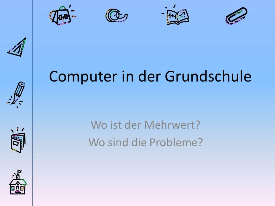 Computer in der Grundschule
