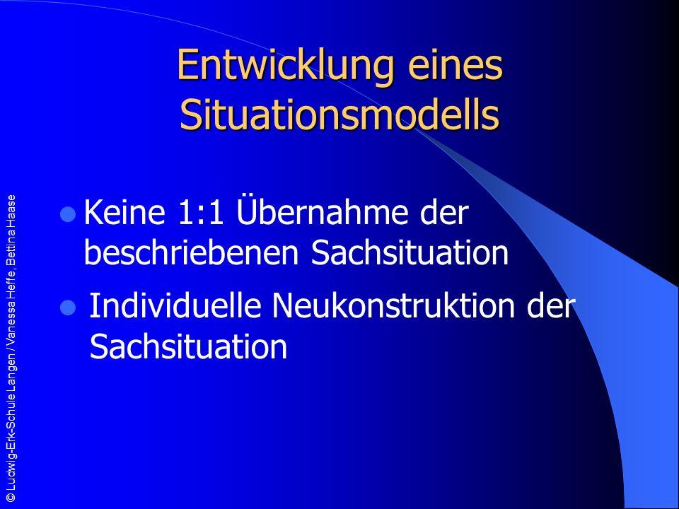 Entwicklung eines Situationsmodells