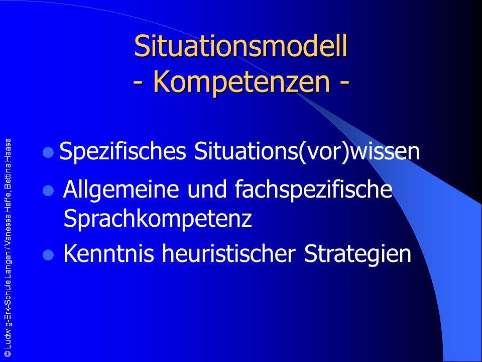 Situationsmodell - Kompetenzen -
