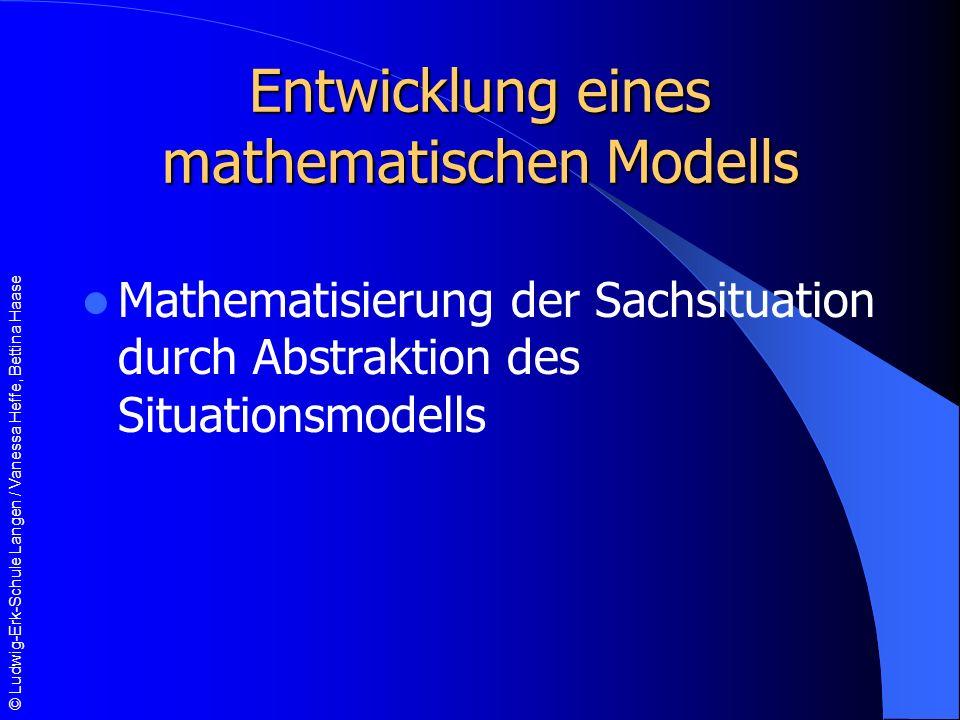 Entwicklung eines mathematischen Modells
