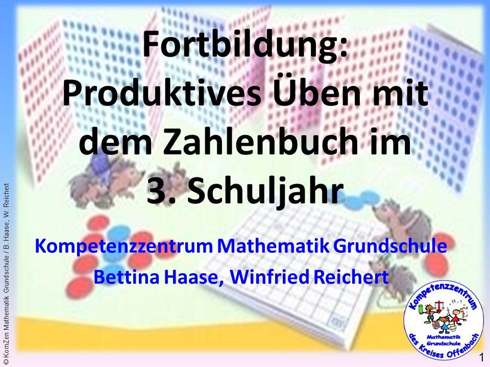 Fortbildung: Produktives Üben mit dem Zahlenbuch im 3. Schuljahr