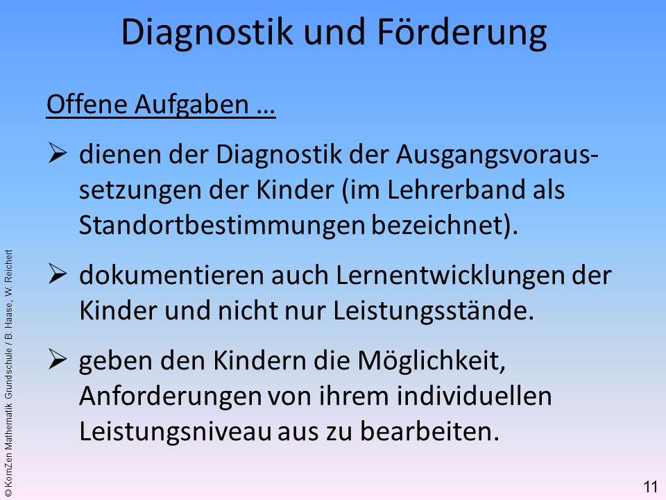 Diagnostik und Förderung