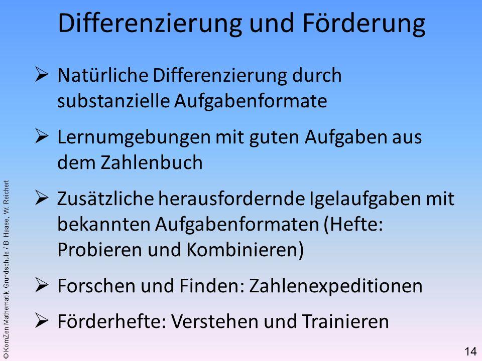 Differenzierung und Förderung