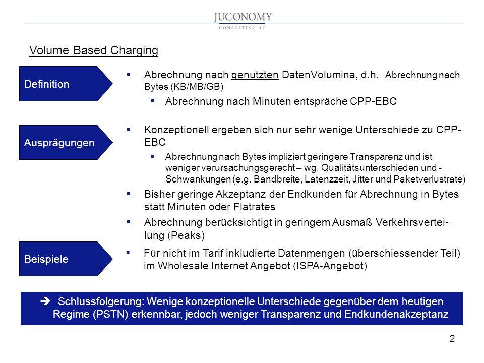 Volume Based Charging Definition. Abrechnung nach genutzten DatenVolumina, d.h. Abrechnung nach Bytes (KB/MB/GB)