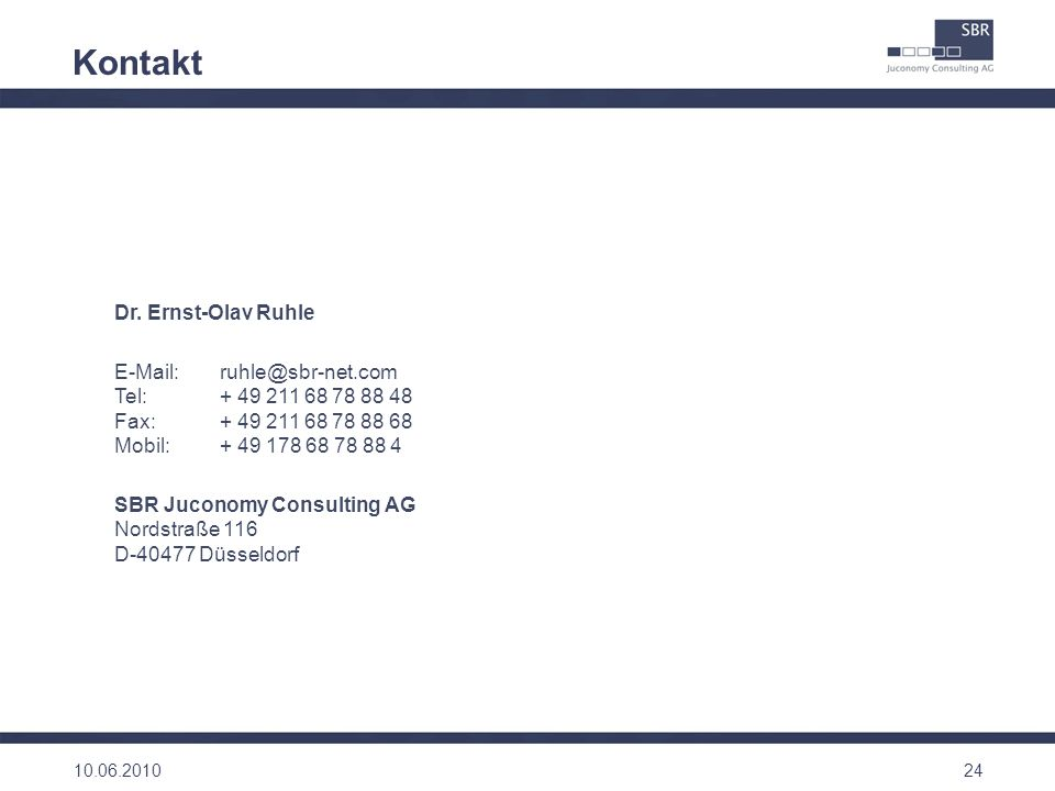 Kontakt Dr. Ernst-Olav Ruhle
