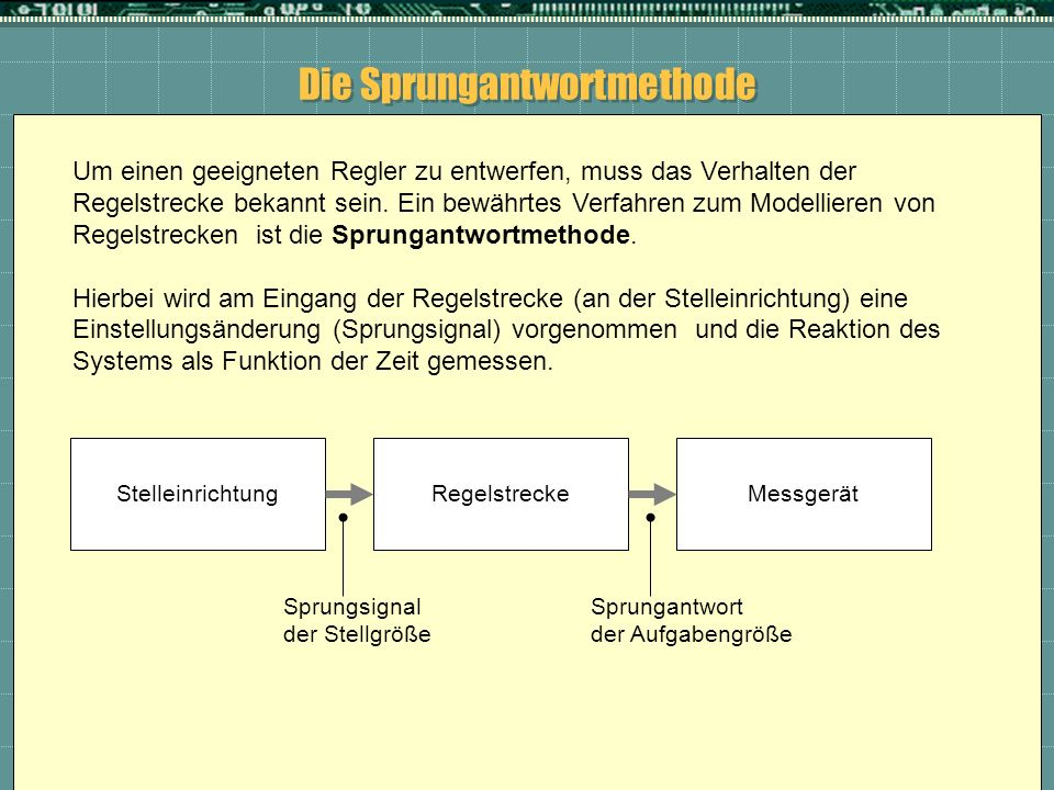 Die Sprungantwortmethode