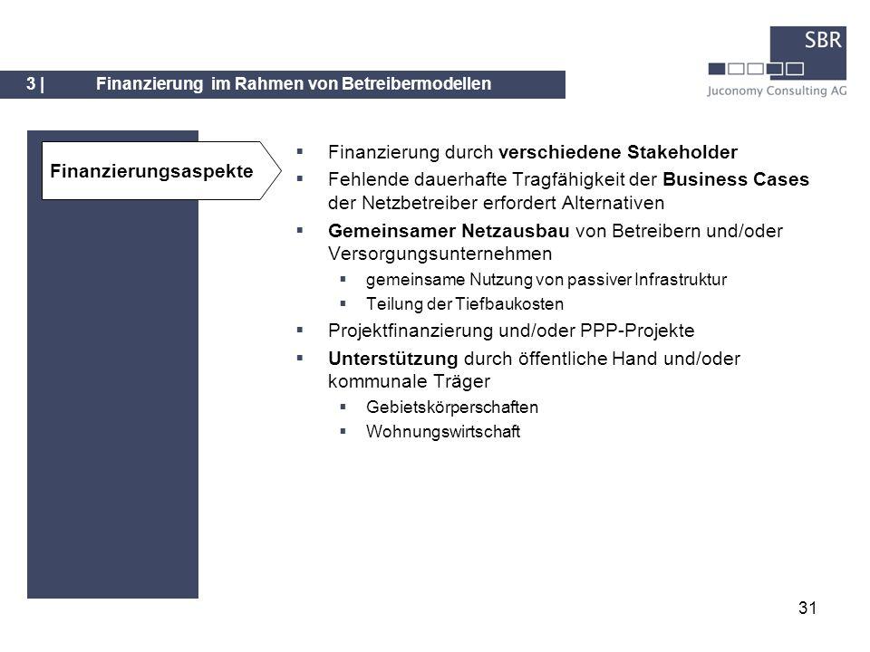 Finanzierung durch verschiedene Stakeholder