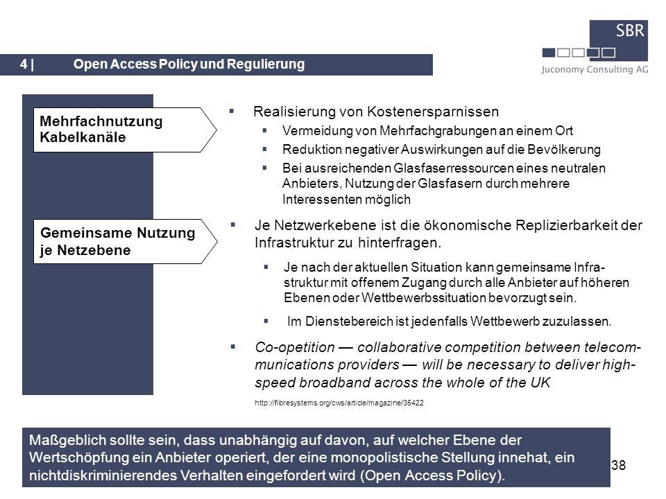 Realisierung von Kostenersparnissen Mehrfachnutzung Kabelkanäle
