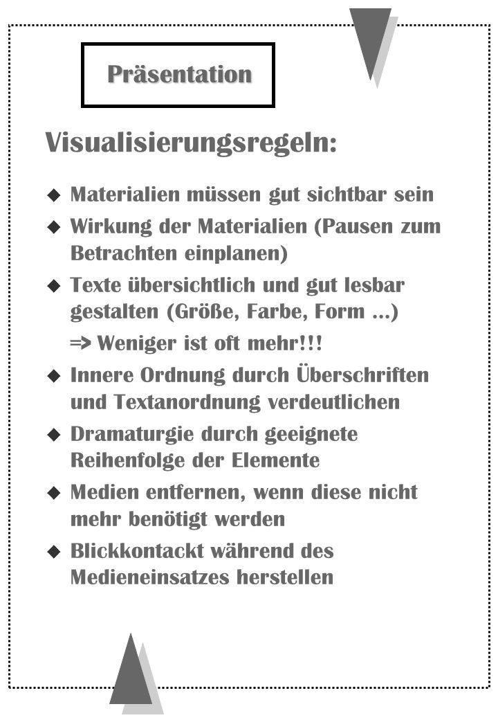 Visualisierungsregeln: