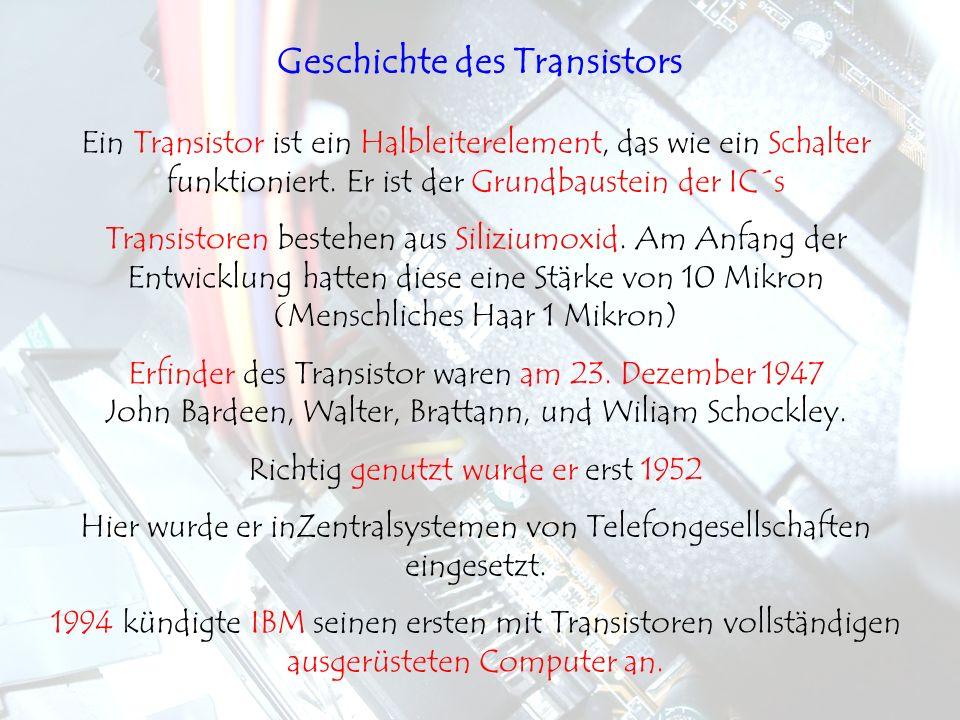 Geschichte des Transistors