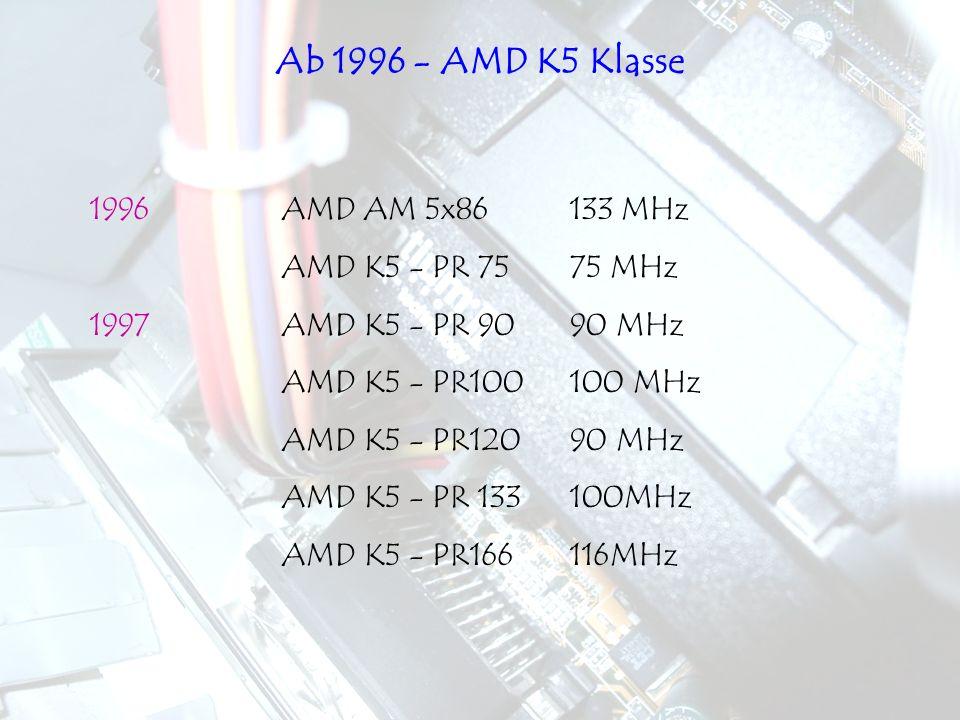 Ab 1996 - AMD K5 Klasse 1996 AMD AM 5x86 133 MHz AMD K5 - PR 75 75 MHz