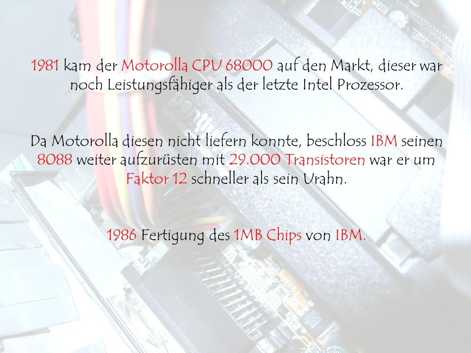 1986 Fertigung des 1MB Chips von IBM.