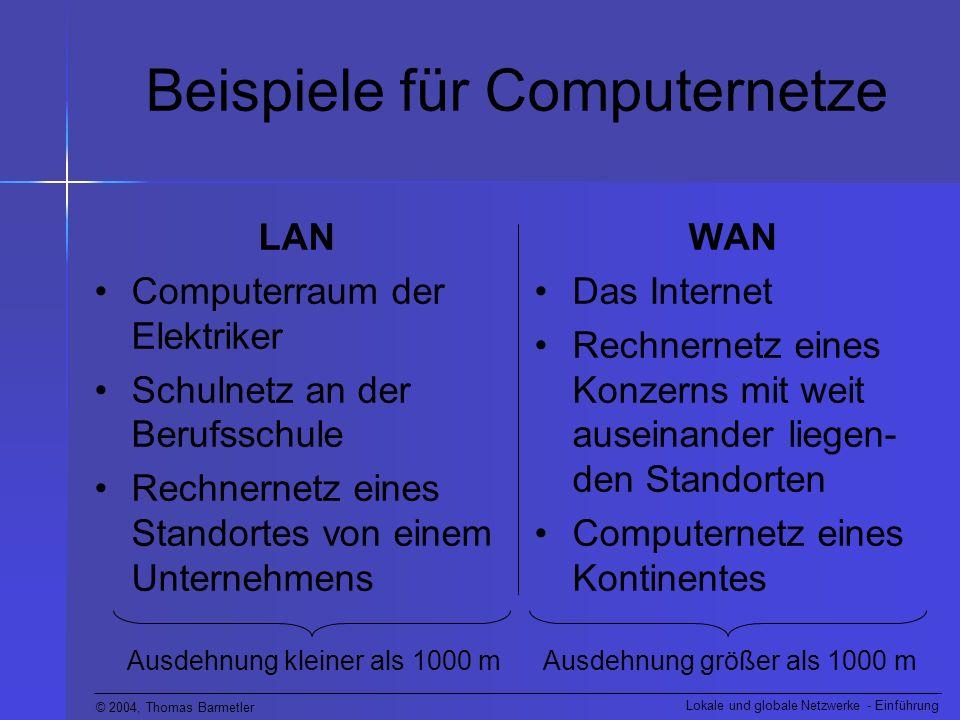Beispiele für Computernetze