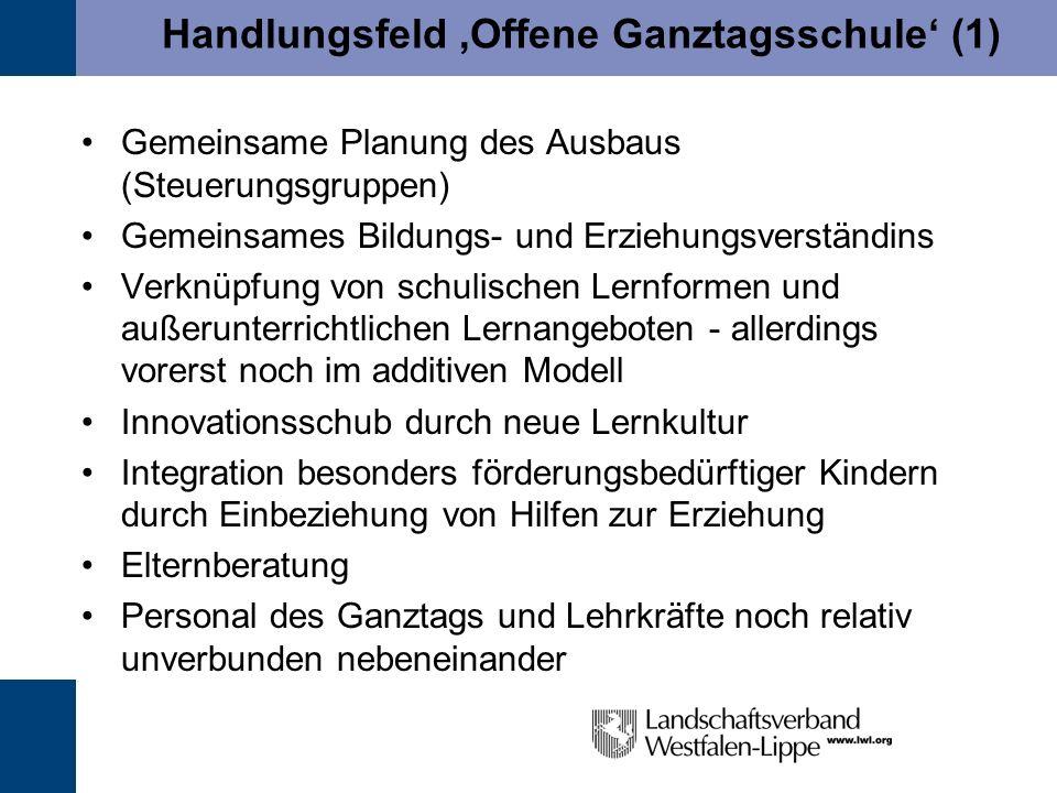 Handlungsfeld 'Offene Ganztagsschule' (1)