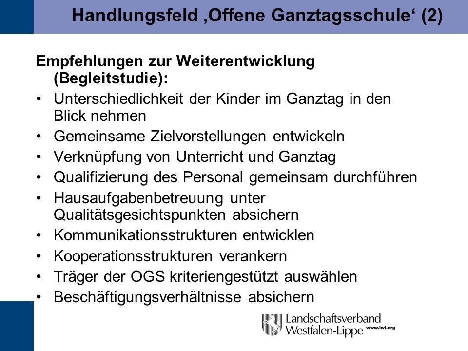 Handlungsfeld 'Offene Ganztagsschule' (2)