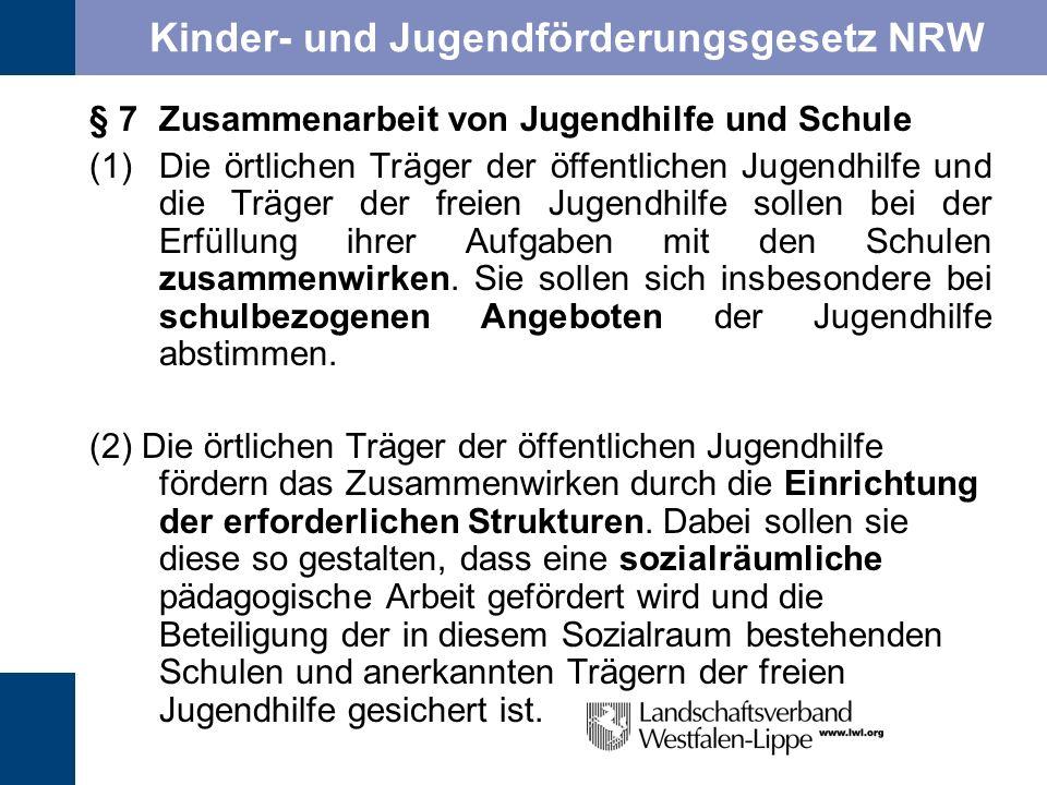 Kinder- und Jugendförderungsgesetz NRW