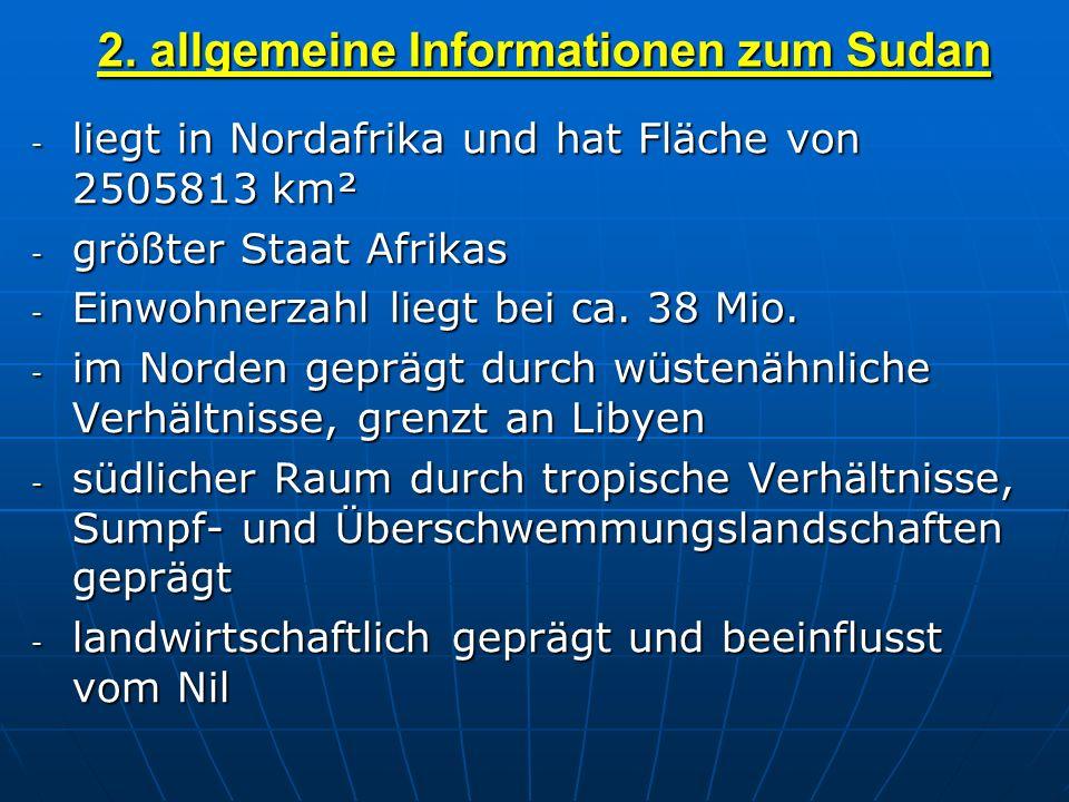 2. allgemeine Informationen zum Sudan