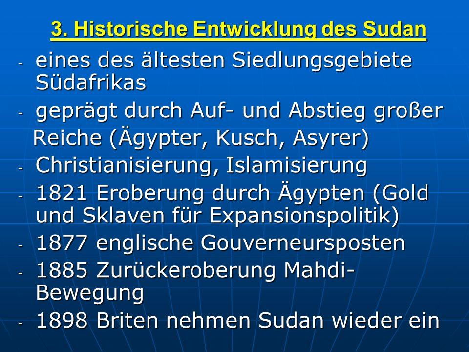 3. Historische Entwicklung des Sudan