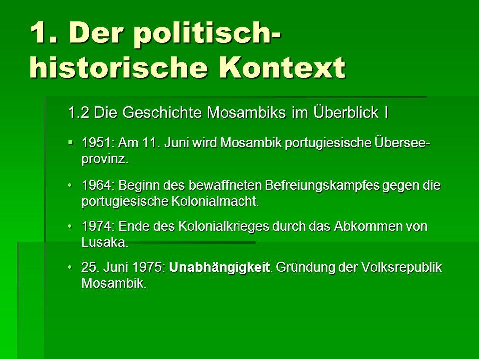 1. Der politisch-historische Kontext
