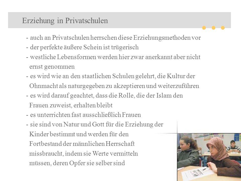 Erziehung in Privatschulen