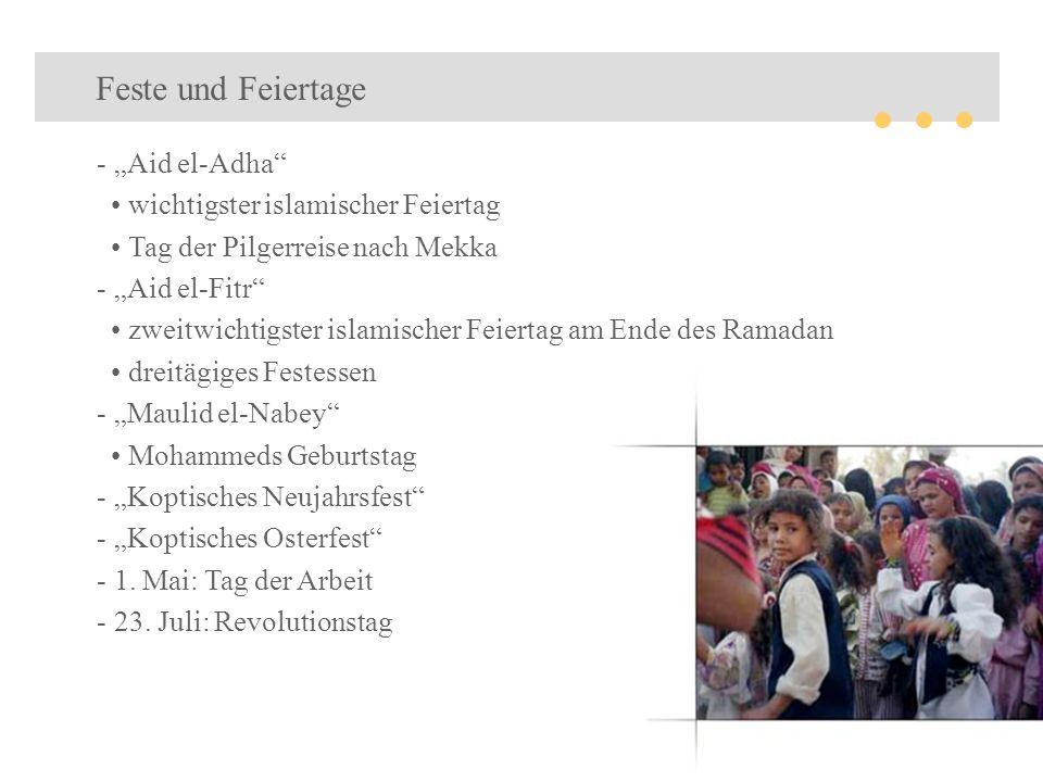 """Feste und Feiertage """"Aid el-Adha • wichtigster islamischer Feiertag"""