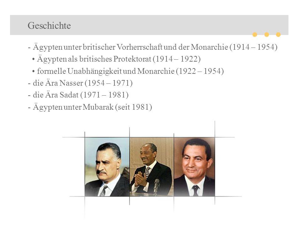 Geschichte Ägypten unter britischer Vorherrschaft und der Monarchie (1914 – 1954) • Ägypten als britisches Protektorat (1914 – 1922)